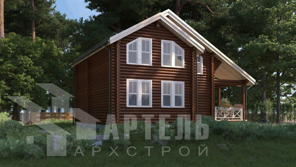двухэтажный дом из профилированного бруса площадью от 100 до 150 кв. м., проект Вариант 8,4Б фотография 5062