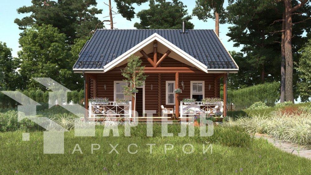двухэтажный дом из профилированного бруса площадью от 100 до 150 кв. м., проект Вариант 8,4Б фотография 5063