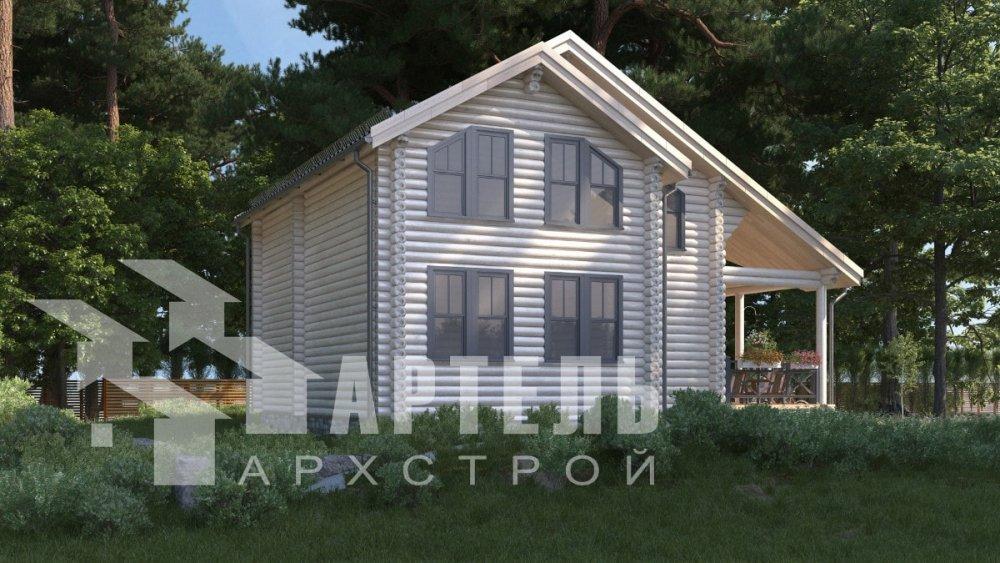 двухэтажный дом из профилированного бруса площадью от 100 до 150 кв. м., проект Вариант 8,4Б фотография 5067