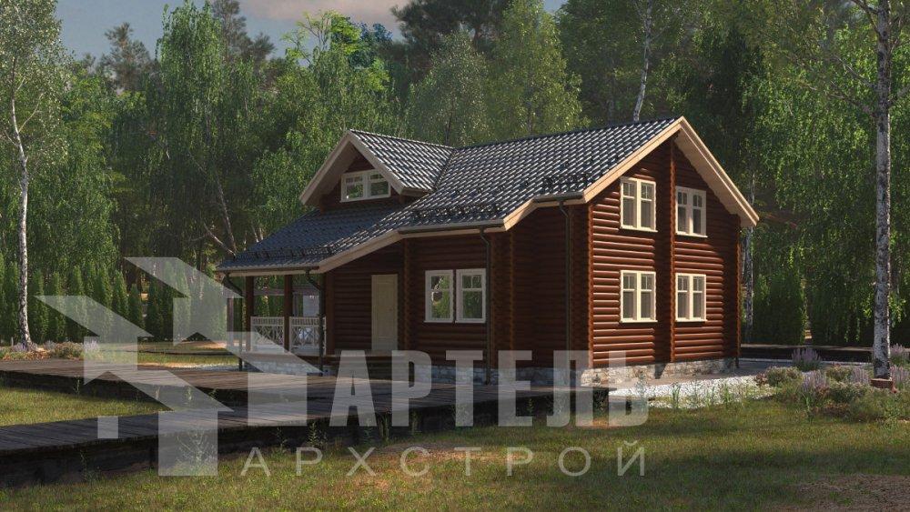двухэтажный дом из профилированного бруса площадью от 150 до 200 кв. м., проект Вариант 9,1А фотография 5041