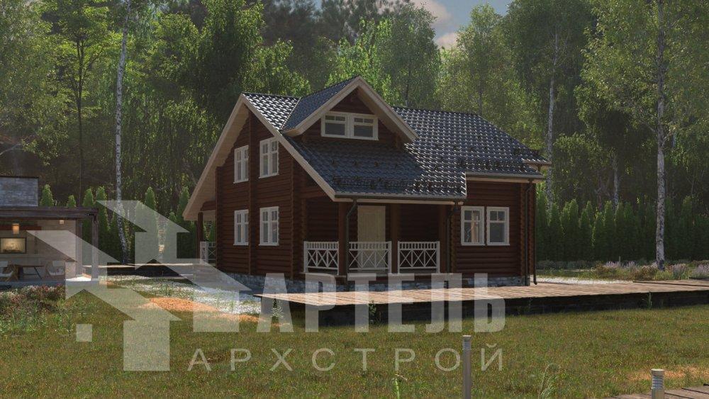 двухэтажный дом из профилированного бруса площадью от 150 до 200 кв. м., проект Вариант 9,1А фотография 5042