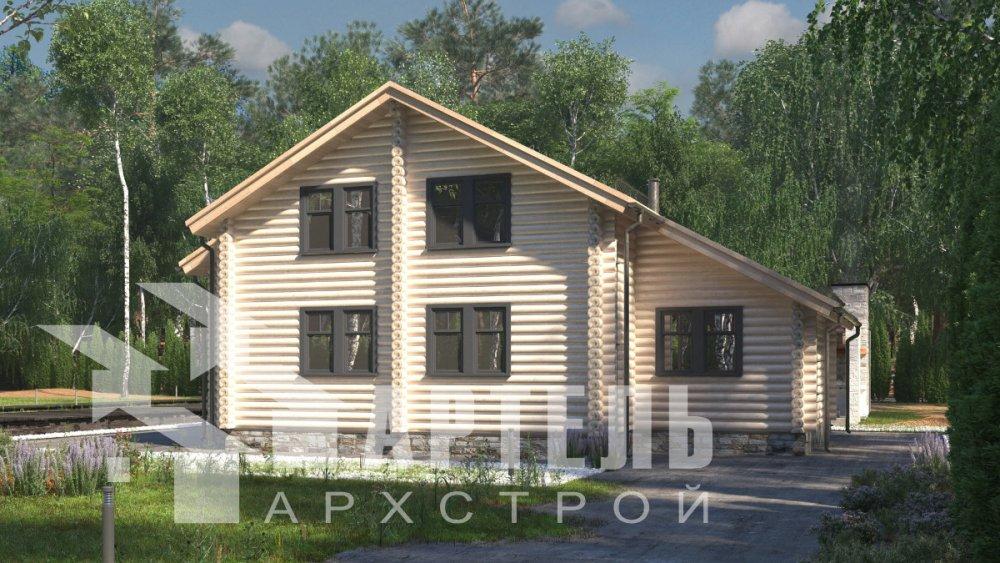 двухэтажный дом из профилированного бруса площадью от 150 до 200 кв. м., проект Вариант 9,1А фотография 5045