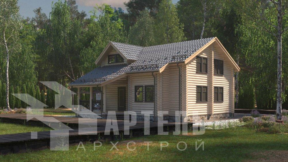 двухэтажный дом из профилированного бруса площадью от 150 до 200 кв. м., проект Вариант 9,1А фотография 5047