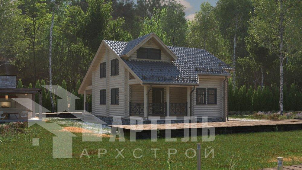 двухэтажный дом из профилированного бруса площадью от 150 до 200 кв. м., проект Вариант 9,1А фотография 5048