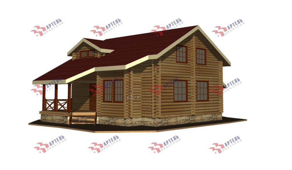 двухэтажный дом из профилированного бруса площадью от 150 до 200 кв. м., проект Вариант 9,1А фотография 5049