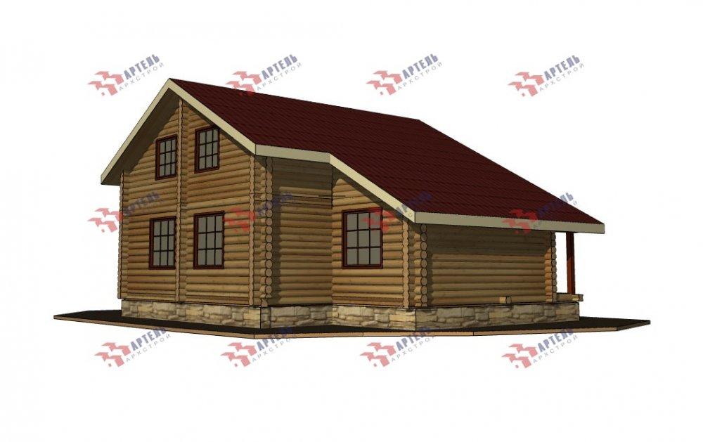 двухэтажный дом из профилированного бруса площадью от 150 до 200 кв. м., проект Вариант 9,1А фотография 5051