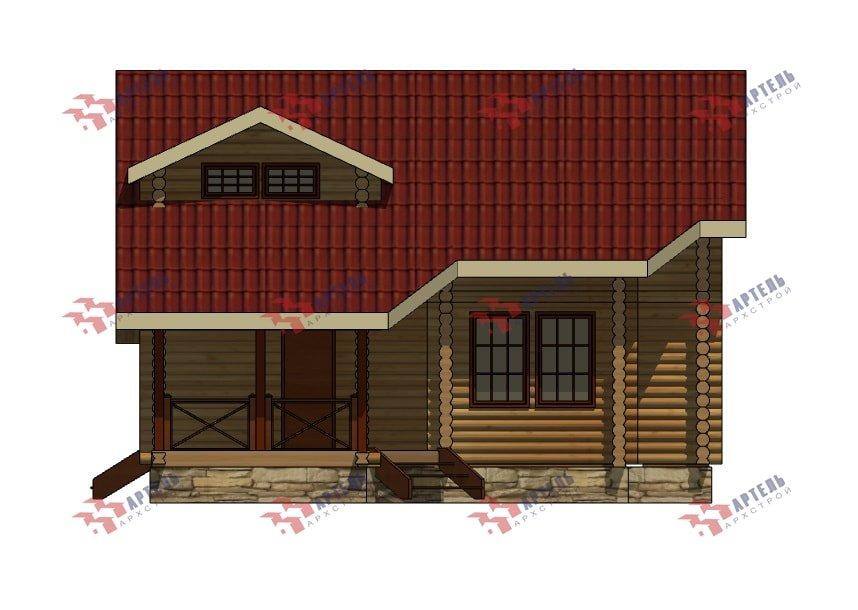 двухэтажный дом из профилированного бруса площадью от 150 до 200 кв. м., проект Вариант 9,1А фотография 5054