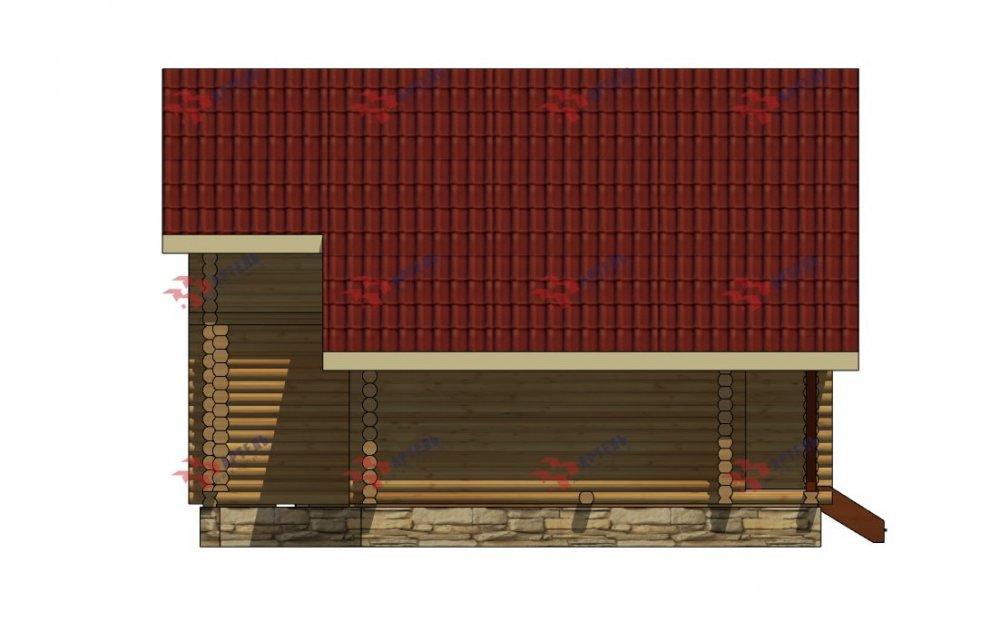 двухэтажный дом из профилированного бруса площадью от 150 до 200 кв. м., проект Вариант 9,1А фотография 5056
