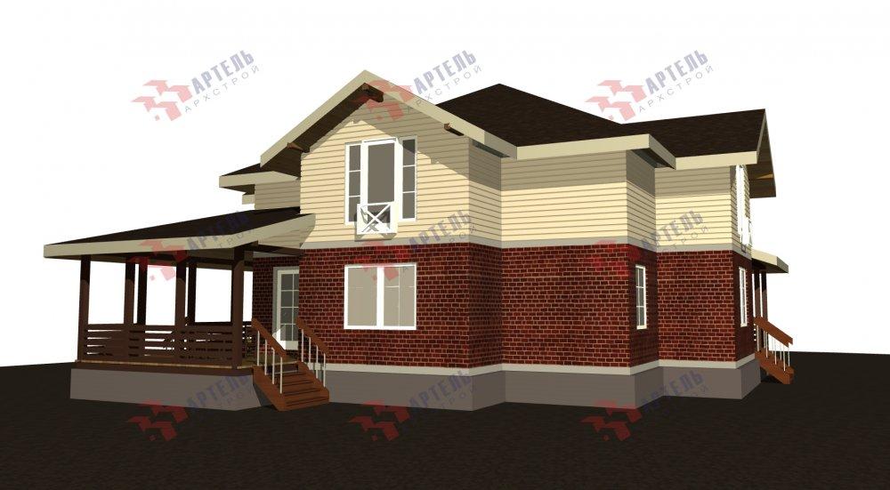 двухэтажный дом омбинированные дома площадью свыше 200 кв. м., проект Вариант 14К Камень и Комбинированный фотография 5251