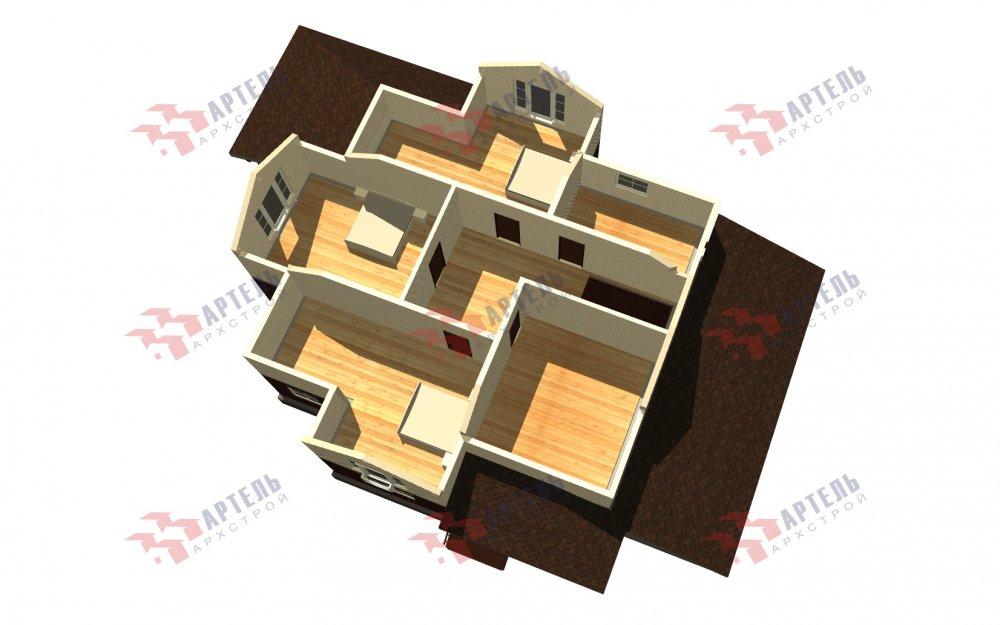 двухэтажный дом омбинированные дома площадью свыше 200 кв. м., проект Вариант 14К Камень и Комбинированный фотография 5254