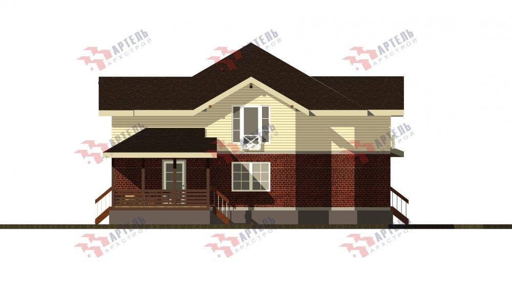 двухэтажный дом омбинированные дома площадью свыше 200 кв. м., проект Вариант 14К Камень и Комбинированный фотография 5256