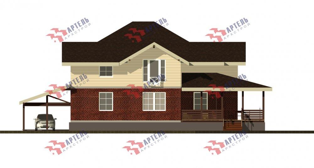 двухэтажный дом омбинированные дома площадью свыше 200 кв. м., проект Вариант 14К Камень и Комбинированный фотография 5257