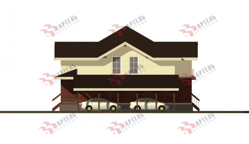 двухэтажный дом из камня площадью свыше 200 кв. м., проект Вариант 14К фотография 5258