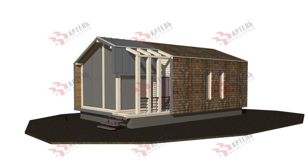 одноэтажный дом из профилированного бруса площадью до 100 кв. м., проект Вариант 6 Б фотография 5077