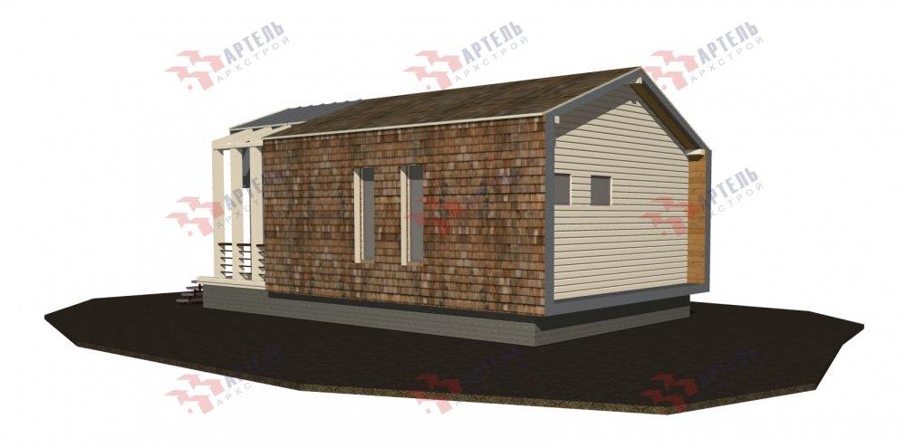 одноэтажный дом из профилированного бруса площадью до 100 кв. м., проект Вариант 6 Б фотография 5078