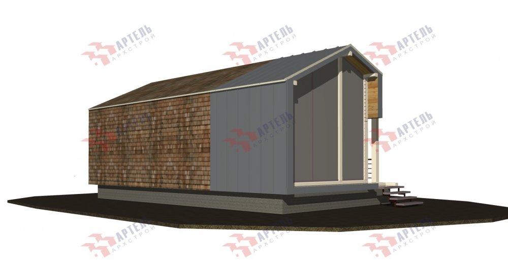 одноэтажный дом из профилированного бруса площадью до 100 кв. м., проект Вариант 6 Б фотография 5079