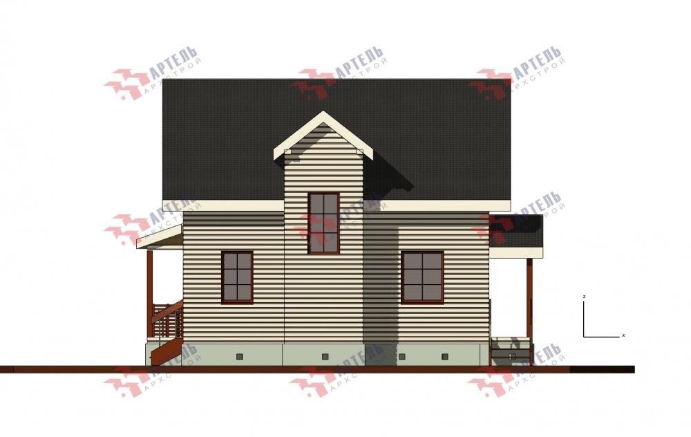 двухэтажный дом из бруса площадью от 100 до 150 кв. м. с  балконом, террасой, проект Вариант 10.7Л фотография 5095