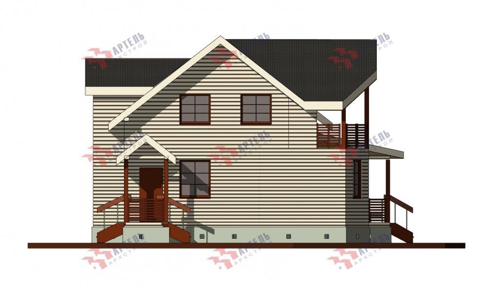 двухэтажный дом из бруса площадью от 100 до 150 кв. м. с  балконом, террасой, проект Вариант 10.7Л фотография 5096