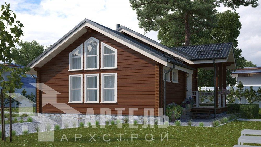 двухэтажный дом из бруса площадью от 100 до 150 кв. м. с  мансардой, проект Вариант 7М фотография 5100