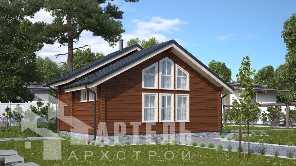двухэтажный дом из бруса площадью от 100 до 150 кв. м. с  мансардой, проект Вариант 7М фотография 5101