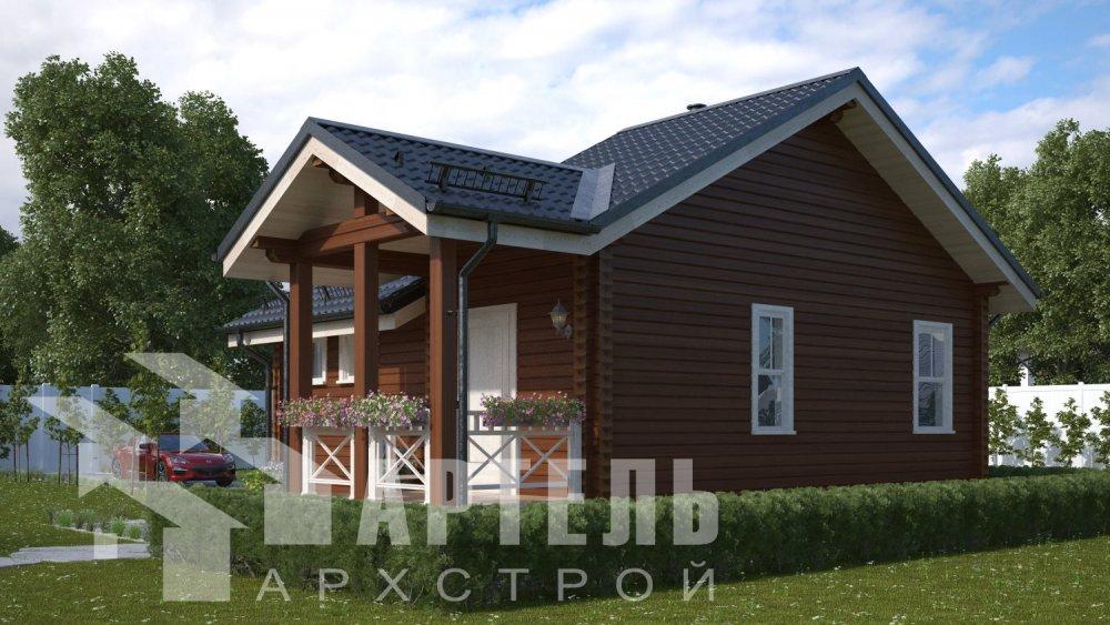 двухэтажный дом из бруса площадью от 100 до 150 кв. м. с  мансардой, проект Вариант 7М фотография 5102