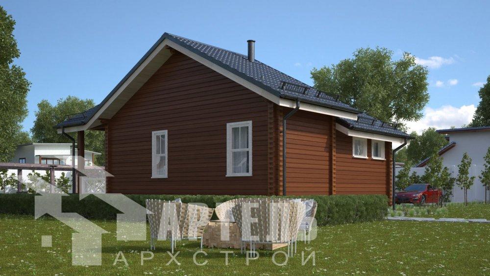 двухэтажный дом из бруса площадью от 100 до 150 кв. м. с  мансардой, проект Вариант 7М фотография 5103