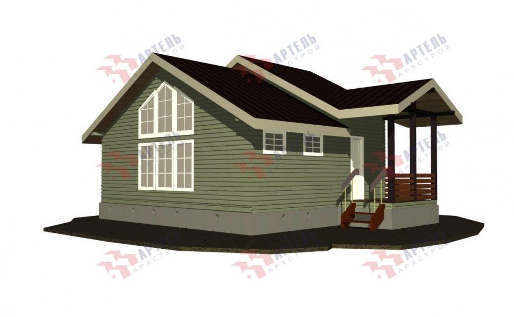 двухэтажный дом из бруса площадью от 100 до 150 кв. м. с  мансардой, проект Вариант 7М фотография 5104