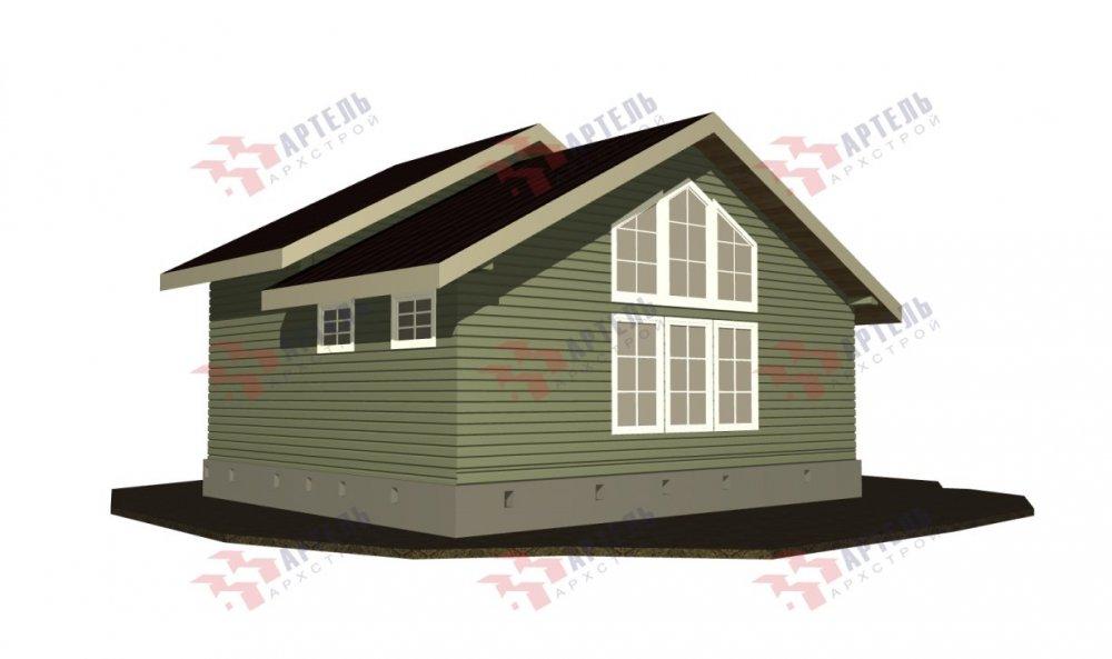 двухэтажный дом из бруса площадью от 100 до 150 кв. м. с  мансардой, проект Вариант 7М фотография 5105