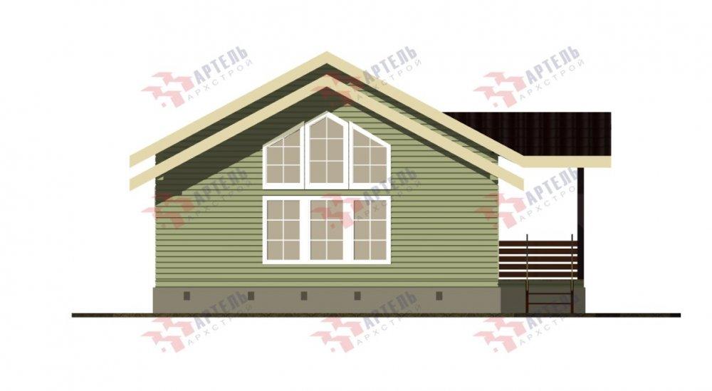 двухэтажный дом из бруса площадью от 100 до 150 кв. м. с  мансардой, проект Вариант 7М фотография 5108