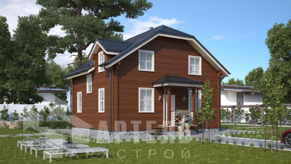 двухэтажный дом из профилированного бруса площадью от 100 до 150 кв. м., проект Вариант 9С фотография 5125