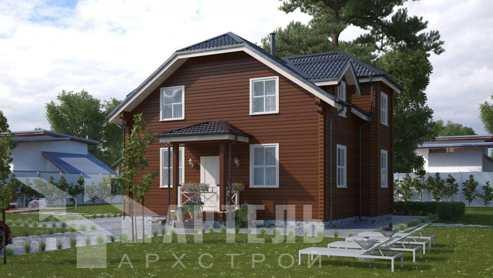 двухэтажный дом из профилированного бруса площадью от 100 до 150 кв. м., проект Вариант 9С фотография 5126