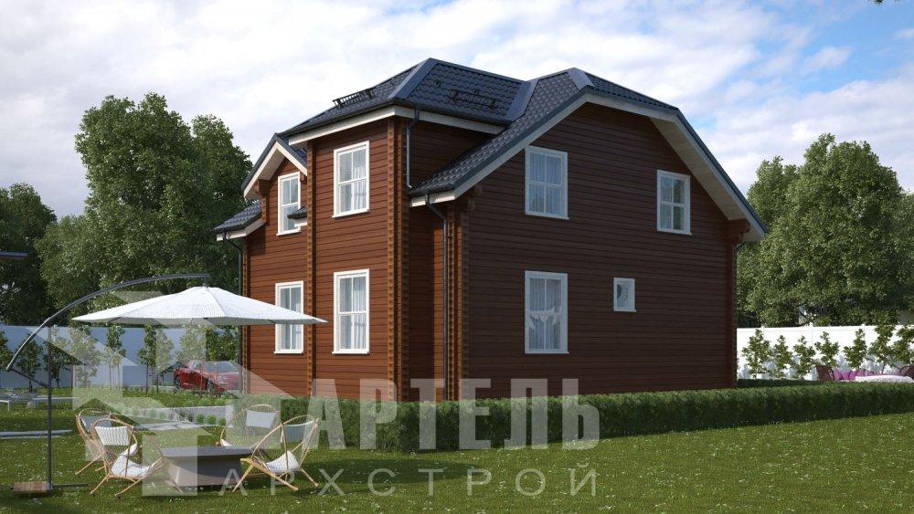 двухэтажный дом из профилированного бруса площадью от 100 до 150 кв. м., проект Вариант 9С фотография 5127