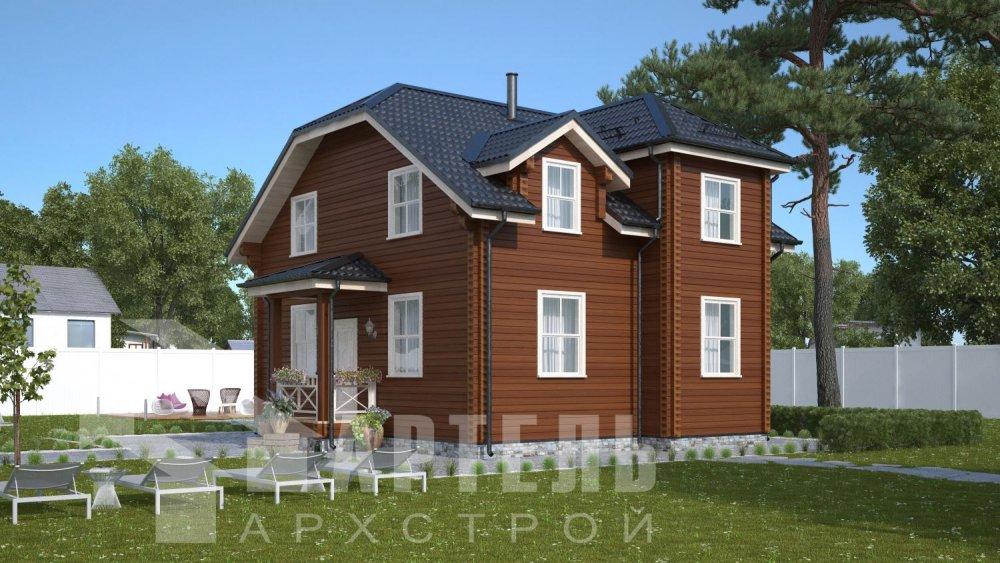 двухэтажный дом из профилированного бруса площадью от 100 до 150 кв. м., проект Вариант 9С фотография 5130
