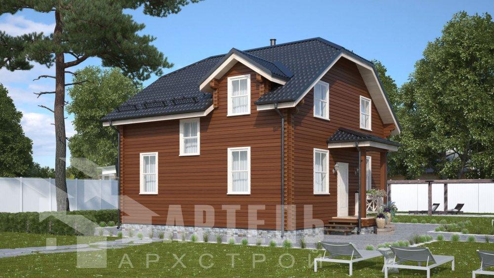 двухэтажный дом из профилированного бруса площадью от 100 до 150 кв. м., проект Вариант 9С фотография 5131