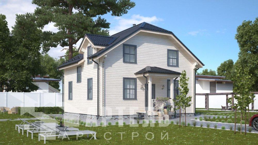 двухэтажный дом из профилированного бруса площадью от 100 до 150 кв. м., проект Вариант 9С фотография 5132