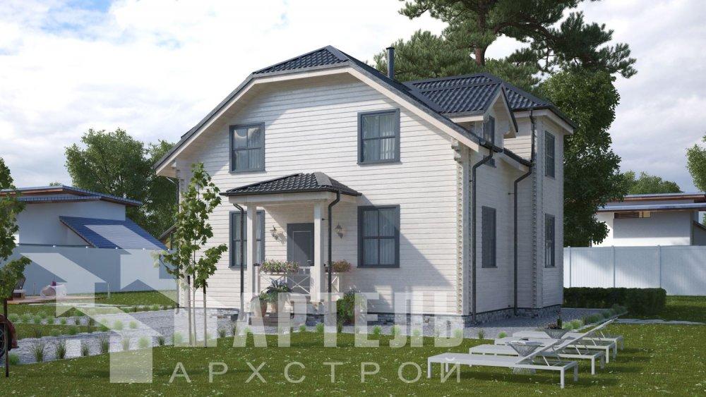 двухэтажный дом из профилированного бруса площадью от 100 до 150 кв. м., проект Вариант 9С фотография 5133