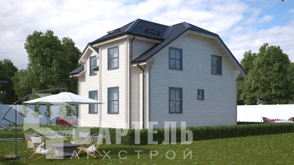 двухэтажный дом из профилированного бруса площадью от 100 до 150 кв. м., проект Вариант 9С фотография 5134