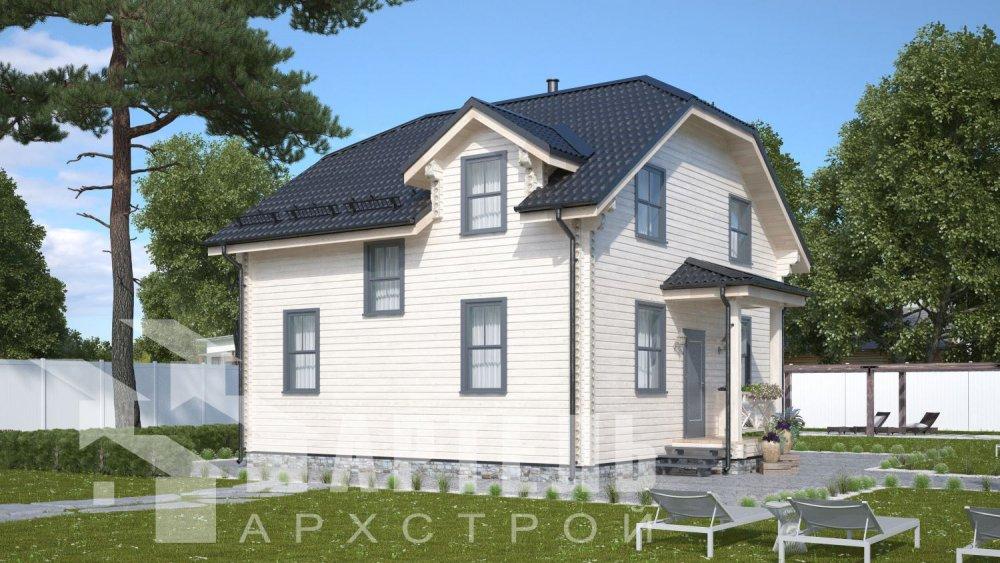 двухэтажный дом из профилированного бруса площадью от 100 до 150 кв. м., проект Вариант 9С фотография 5137