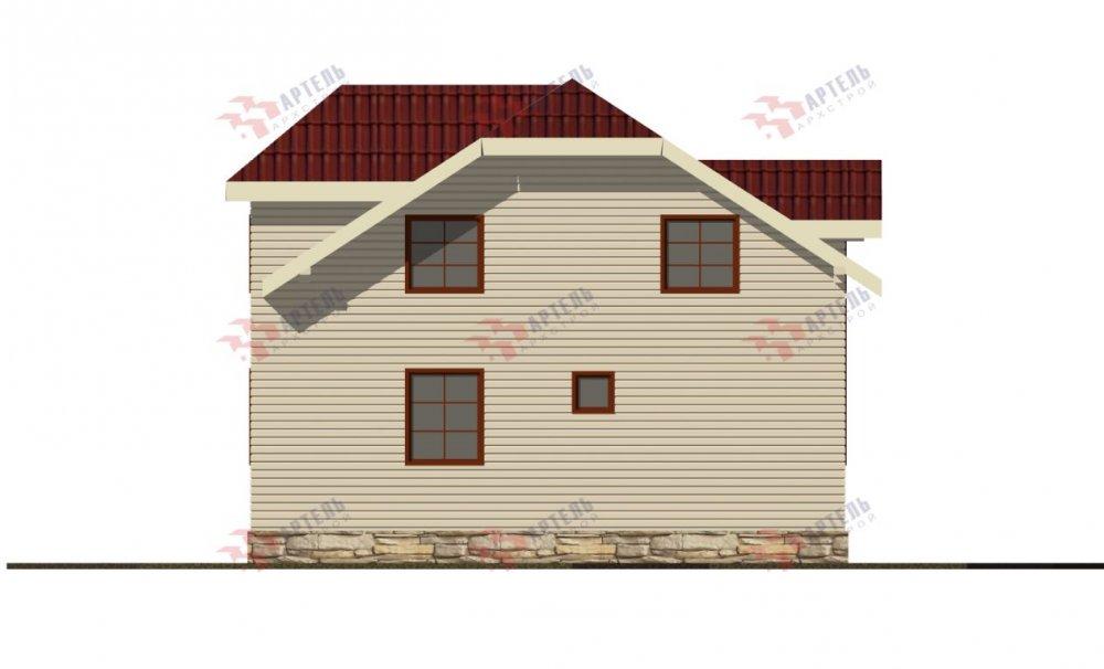 двухэтажный дом из профилированного бруса площадью от 100 до 150 кв. м., проект Вариант 9С фотография 5143