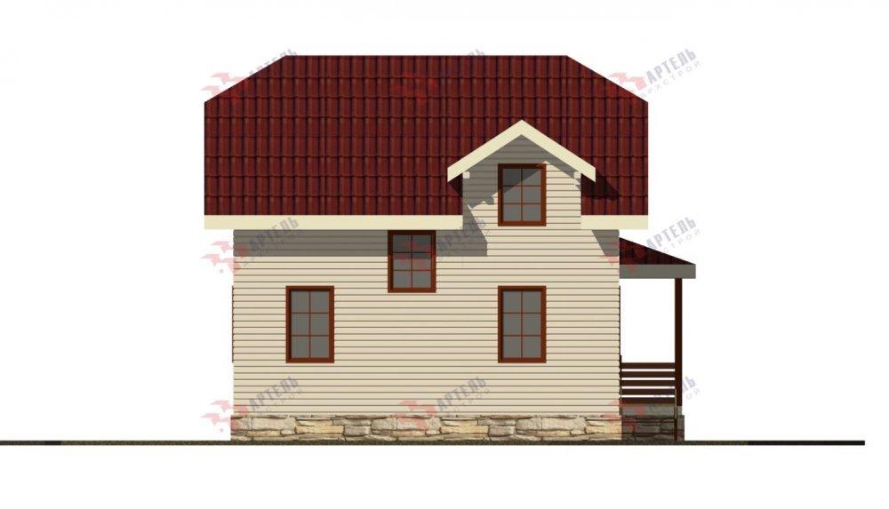 двухэтажный дом из профилированного бруса площадью от 100 до 150 кв. м., проект Вариант 9С фотография 5144