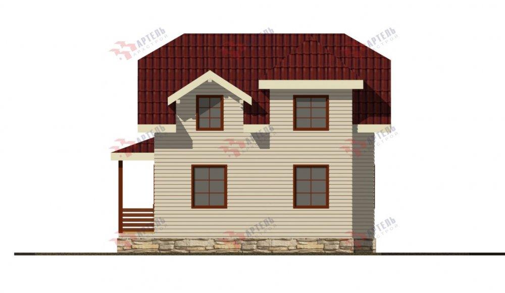 двухэтажный дом из профилированного бруса площадью от 100 до 150 кв. м., проект Вариант 9С фотография 5145