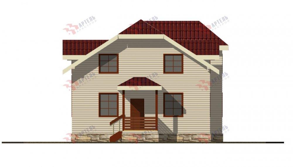 двухэтажный дом из профилированного бруса площадью от 100 до 150 кв. м., проект Вариант 9С фотография 5146