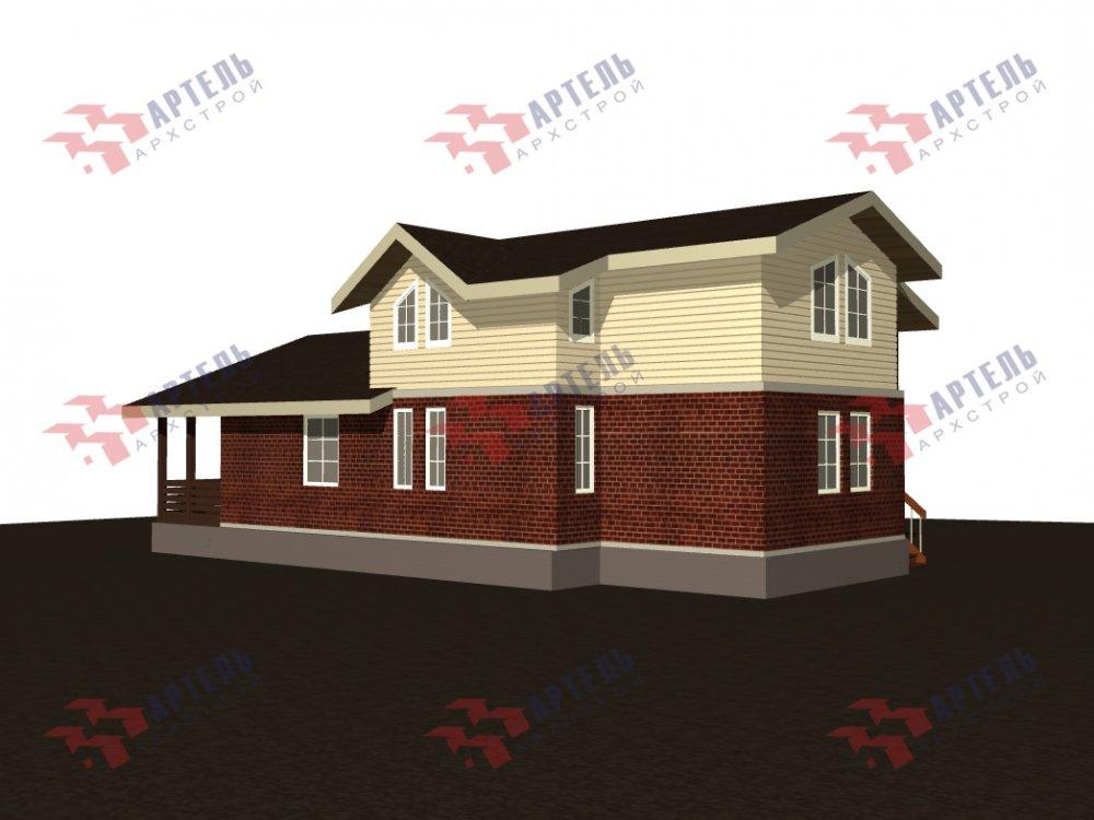 дом омбинированные дома, проект Вариант 15,9К Комбинированный фотография 5579