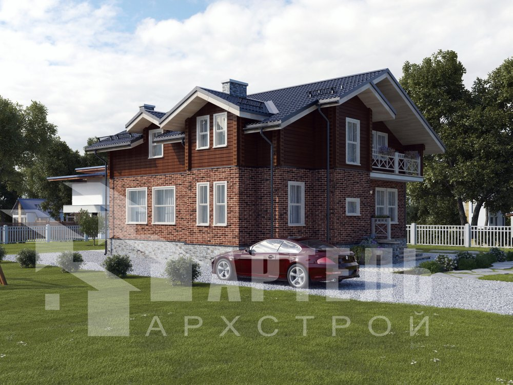двухэтажный дом из профилированного бруса площадью свыше 200 кв. м., проект Вариант 26 фотография 6294