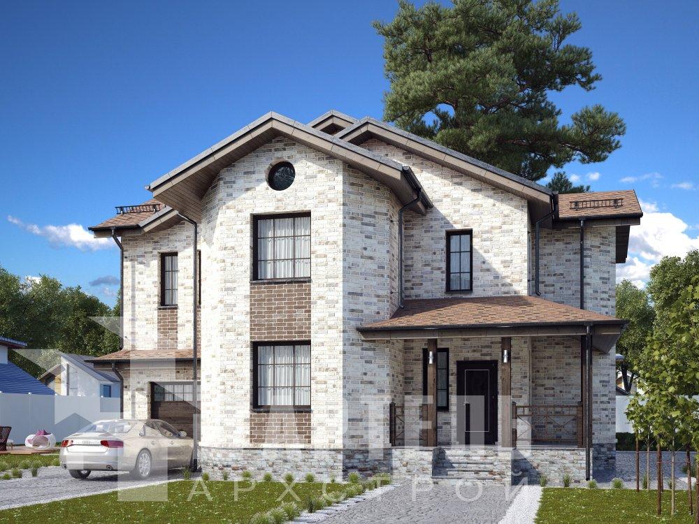 двухэтажный дом омбинированные дома площадью свыше 200 кв. м. с  эркером, проект Вариант 17 фотография 6353