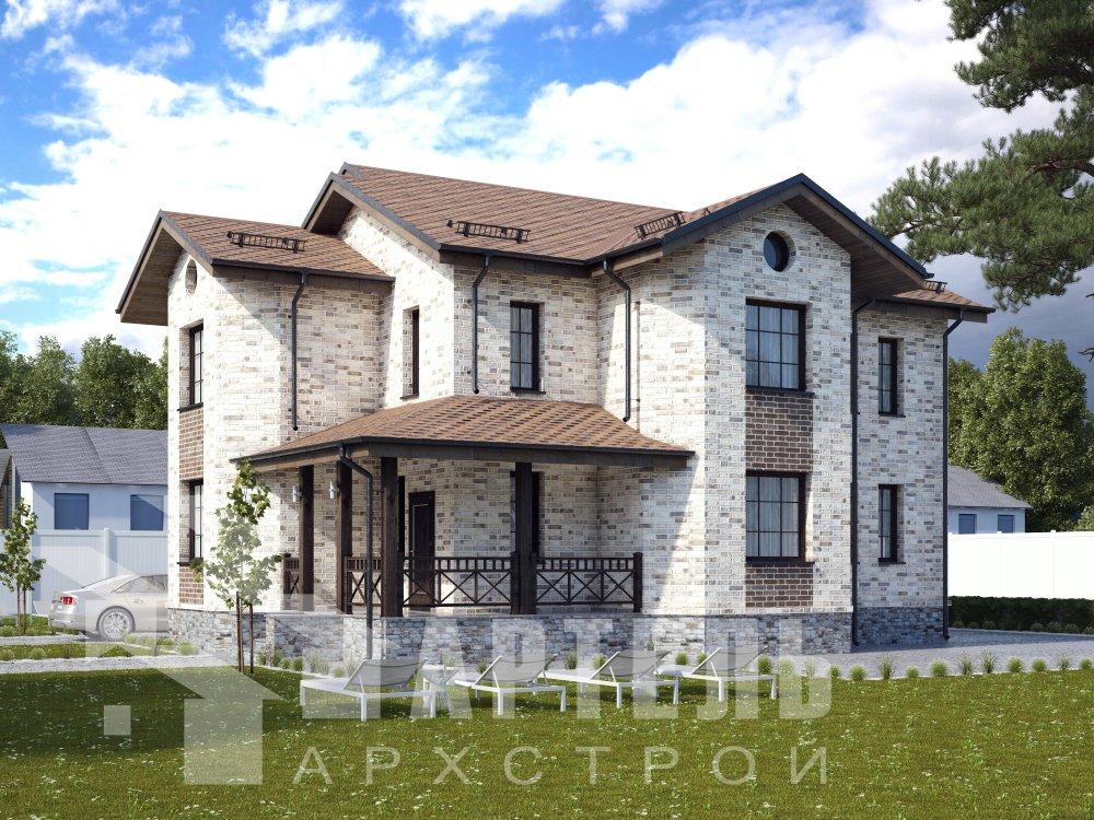двухэтажный дом омбинированные дома площадью свыше 200 кв. м. с  эркером, проект Вариант 17 фотография 6354