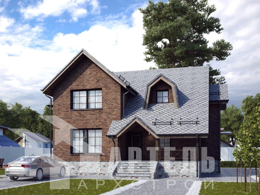 двухэтажный дом омбинированные дома площадью от 150 до 200 кв. м. с  террасой, эркером, проект Вариант 12 фотография 6383