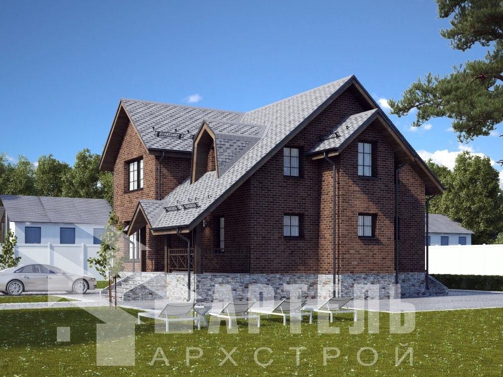двухэтажный дом омбинированные дома площадью от 150 до 200 кв. м. с  террасой, эркером, проект Вариант 12 фотография 6381