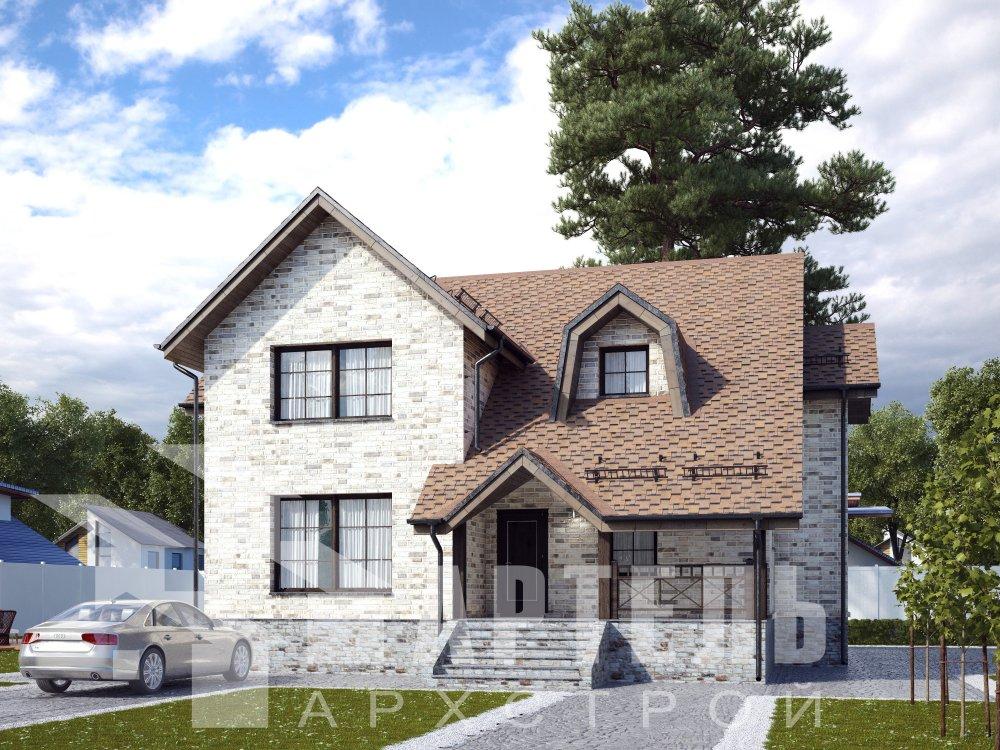 двухэтажный дом омбинированные дома площадью от 150 до 200 кв. м. с  террасой, эркером, проект Вариант 12 фотография 6382
