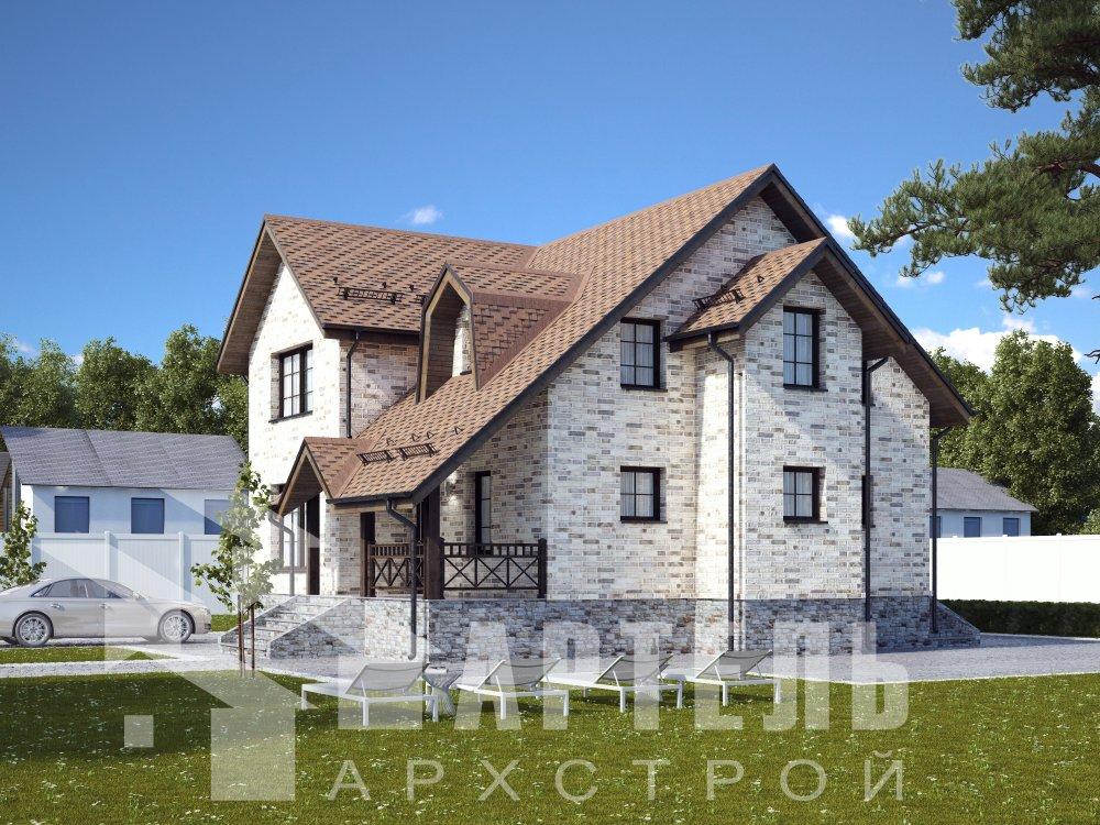 двухэтажный дом омбинированные дома площадью от 150 до 200 кв. м. с  террасой, эркером, проект Вариант 12 фотография 6379